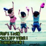 【ブログ11ヶ月】月間アクセス1万PV達成!辞めずに継続これ大事!