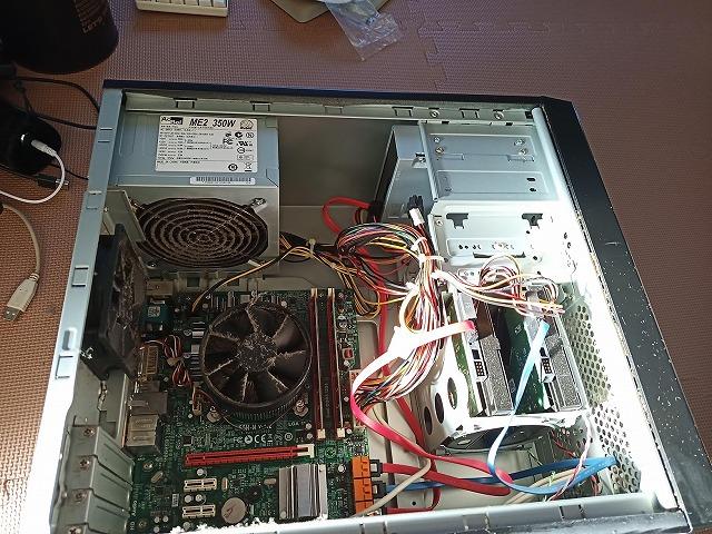 メモリ 増設 方法,パソコン内部,デスクトップパソコン